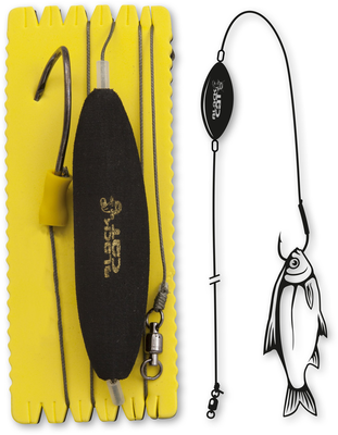 Black cat u-float rig single hook L/XL