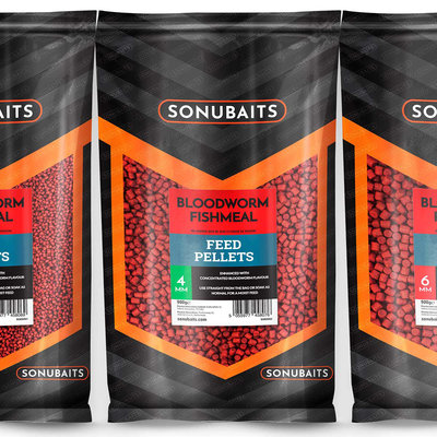 Sonubaits. Bloodworm Fishmeal Feed Pellets. 900 gram