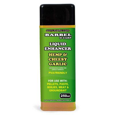 Sonubaits. Barbel&Carp Liquid Enhancers. Hemp and Cheesy Garlic Oil