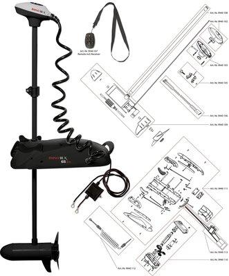 Rhino BLX65 BMR Accessoiries. Accu kabel, accu zijde