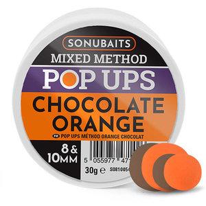Sonubaits. Chocolate Orange Mixed Method Boilies. 8 & 10mm Pop Ups. hengelsport heijnens