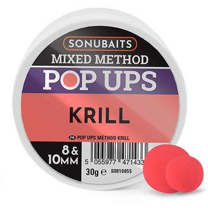 Sonubaits. Krill Mixed Method Boilies. 8 & 10mm Pop Ups hengelsport heijnens